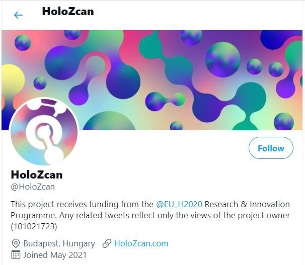 HOLOZCAN Twitter account